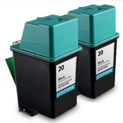 2 Pack HP 20 Ink Cartridge C6614D FAX 1010 1010xi 1020 1020xi 1040 1040xi 1050