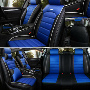 5d car seat covers pu leather front rear set universal car accessories  interior | ebay  ebay