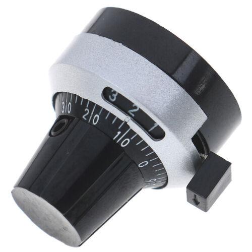 1Set 4mm Dia Potentiometer knob lockable Hat Precise Dial rotary knob 3590S ZB