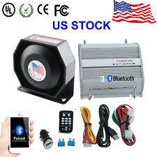 PA Siren Horn Bluetooth Loud Speaker System Kit 400W Car Warning Alarm 8 Sounds