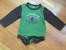 """Baby Gap Green & Brown """"All Revved Up"""" Long-sleeved Shirt, size 6-12 months"""