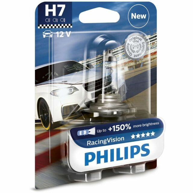 Philips H7 Racing Vision 12v 150% more brightness Car BULBS Single