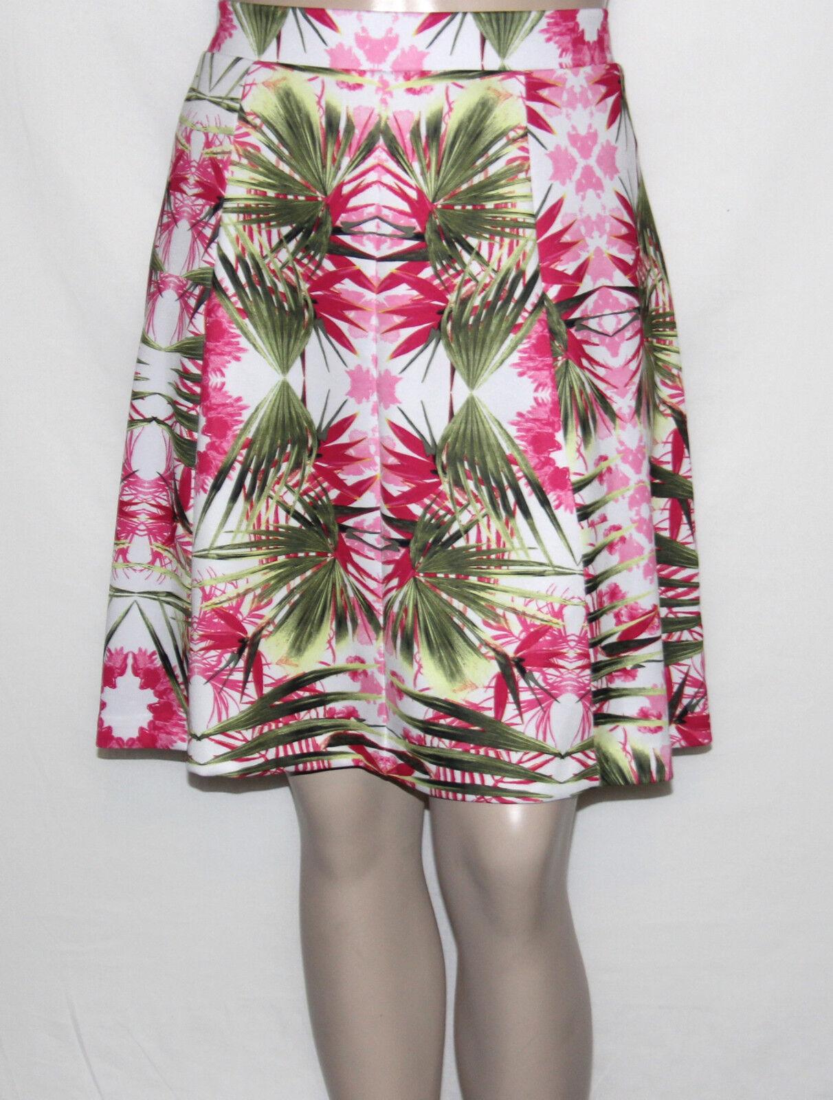 INC International Concepts Plus Size 1X Print Tropical Paradise A-Line Skirt NEW