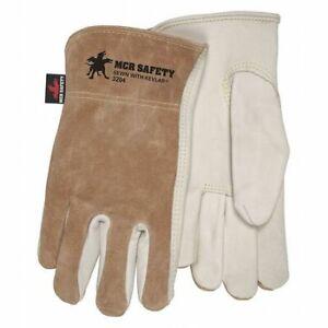 Mcr Safety 3204S Select Cowhide Brown Split Back,S,Pk12