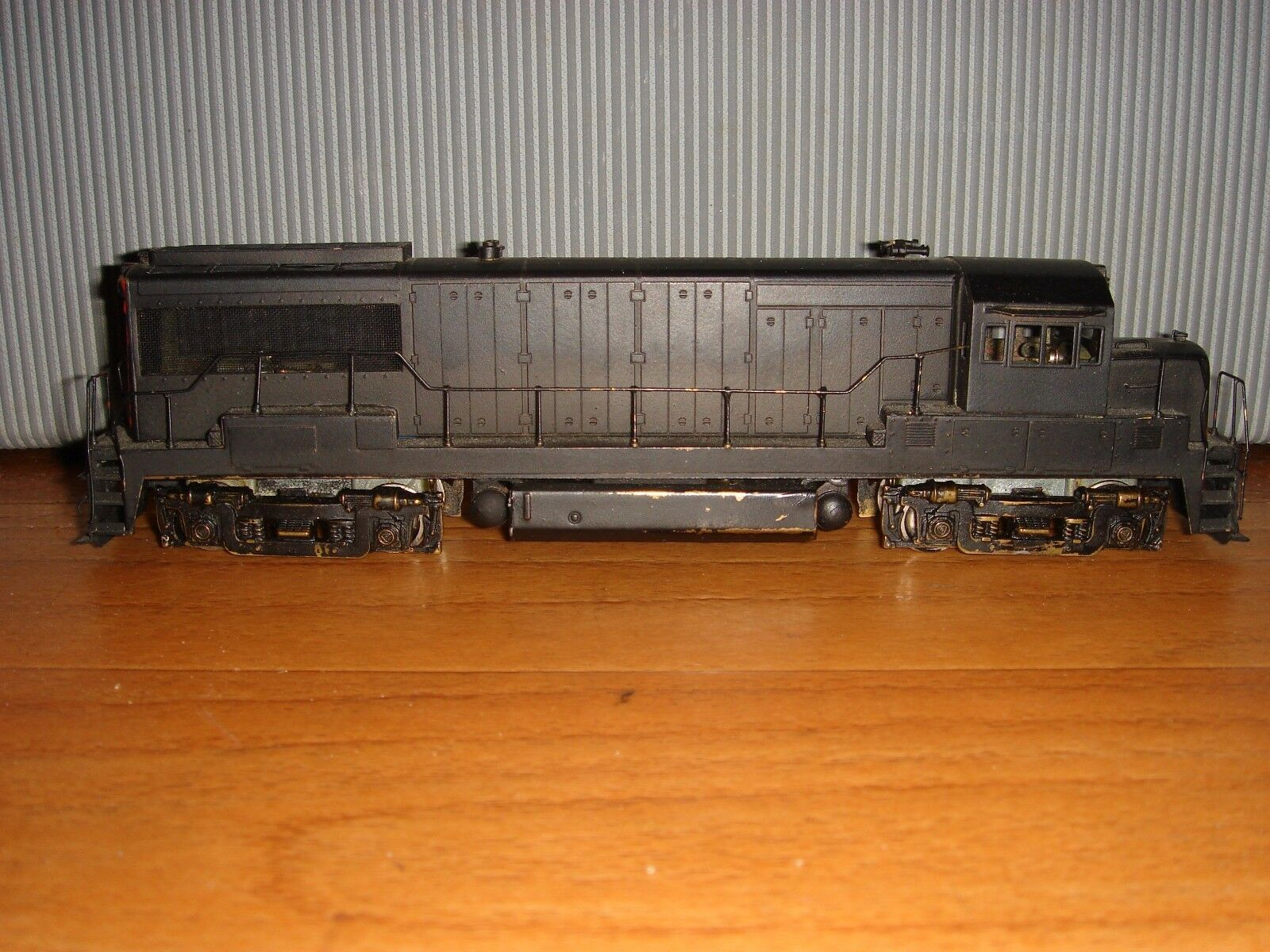 Model von 1969, ALCO ® Lokomotive H0 D-113 PENNSYLVANIA GE U-25B Messing Allrad