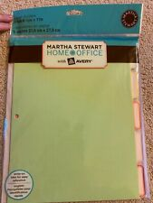 Martha Stewart Home Office With Avery Paper Dividers 5 Tab 8 12 X 11
