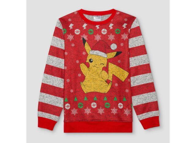 Pokemon Christmas Sweater.Pokemon Pikachu Holiday Christmas Sweater Sweatshirt Boys Size Small 6