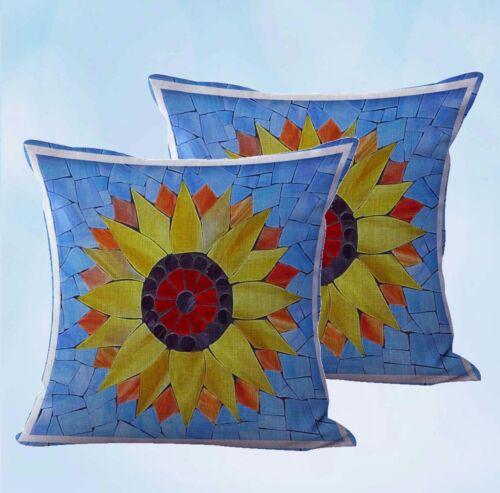 US Seller set of 2 decorating living mandala flower unity harmony cushion cover