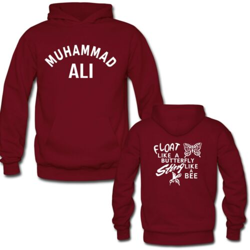 Muhammad Ali LETTER PRINTED PULLOVER HOODIES CUSTOM YOUR TEXT HOODIE S-3XL