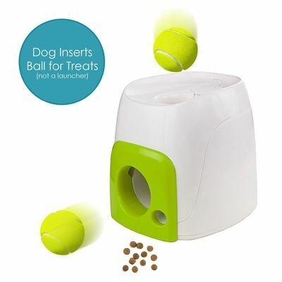 All for Paws Interactive Dog Fetch N Treat Dispenser Trainer Ball Toy Play Game