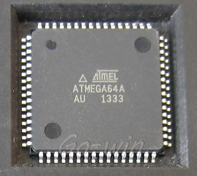 5PCS ATMEGA64A-AU ATMEGA64A IC MCU 8BIT 64KB FLASH 64TQFP