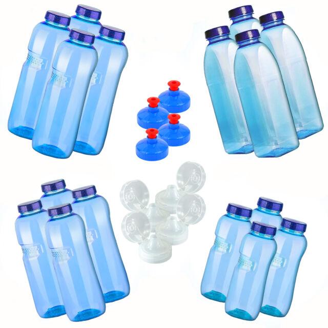Trinkflasche 3 x 1 L Wasserflasche Tritan BPA frei 3 x Trinkdeckel Flip Top