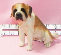 Dollhouse Miniature Dog Saint Bernard Seated Falcon Minis 1:12 Scale