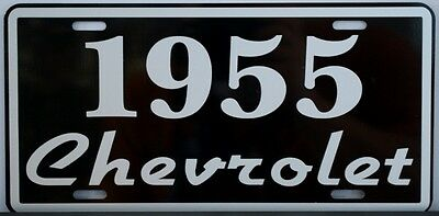 AMERICAN GRAFFITI 55 CHEVY LICENSE PLATE GLD 204 FALFAS 55 GASSER HARRISON FORD