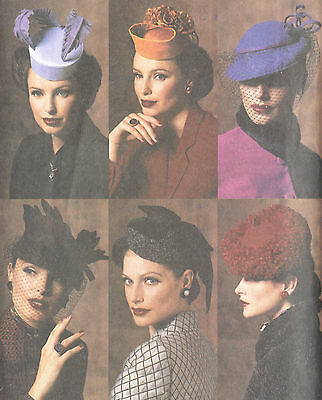 1940s Vintage VOGUE Sewing Pattern HATS ONE SIZE (1150)