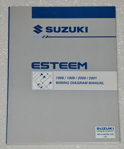 1998 2001 suzuki esteem electrical wiring diagrams shop manual gl rh ebay com 2001 Suzuki Cars 2001 Suzuki XL7