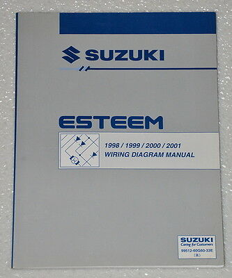 [SCHEMATICS_4UK]  1998 2001 SUZUKI ESTEEM Electrical Wiring Diagrams Shop Manual GL GLX+ 1999  2000 | eBay | 1998 Suzuki Esteem Wiring Diagrams |  | eBay