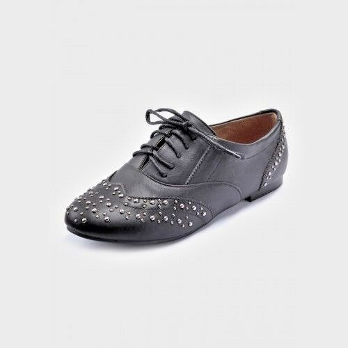 Ladies Black Brogue Shoes made by Dolcis UK Size 6 NEW ref 807//812