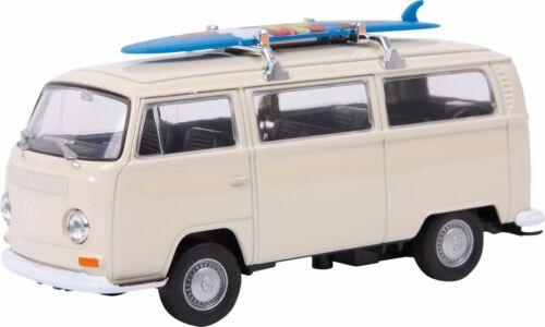 Surfbrett 1:34 Rückzugautomatik Modellfahrzeug Sammeln Modellauto VW Bus T2