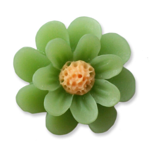 18mm Lucite MATTE RESIN DAISY Cabochon Flatback Embellishment Jewellery Craft