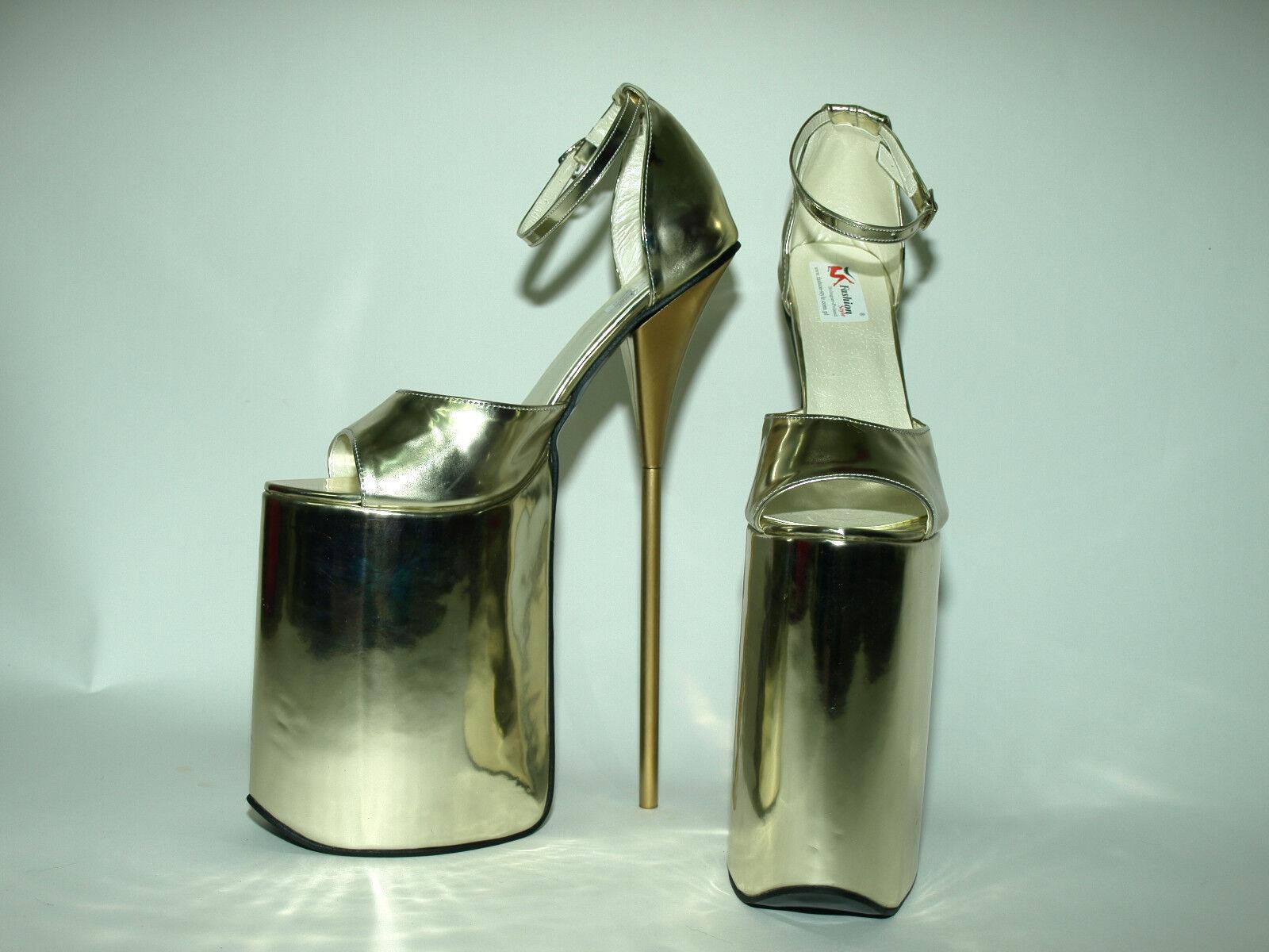 High heels 30cm 40 gold 37 38 39 40 30cm 41 42 43 44 45 46 47 FS1446 Bolingier Poland 394ed7
