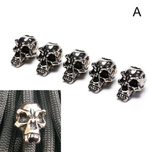 5Pcs//Lot Paracord Beads Metal Skull For Paracord Bracelet Accessories PB