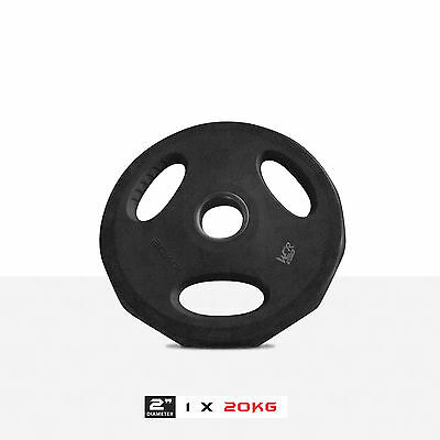 Olympic Rubber Disc Weight Plates EZ Bar Barbell Weights Plate Home Fitness Gym