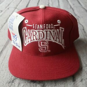 Vintage New Stanford Cardinal Snapback Hat by The Game Cap University 90s