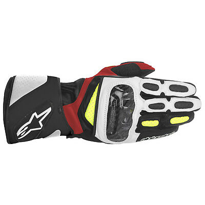 Alpinestars SP-2 SP 2 SP2 Gloves Leather Motorbike Black White Red Yellow SALE