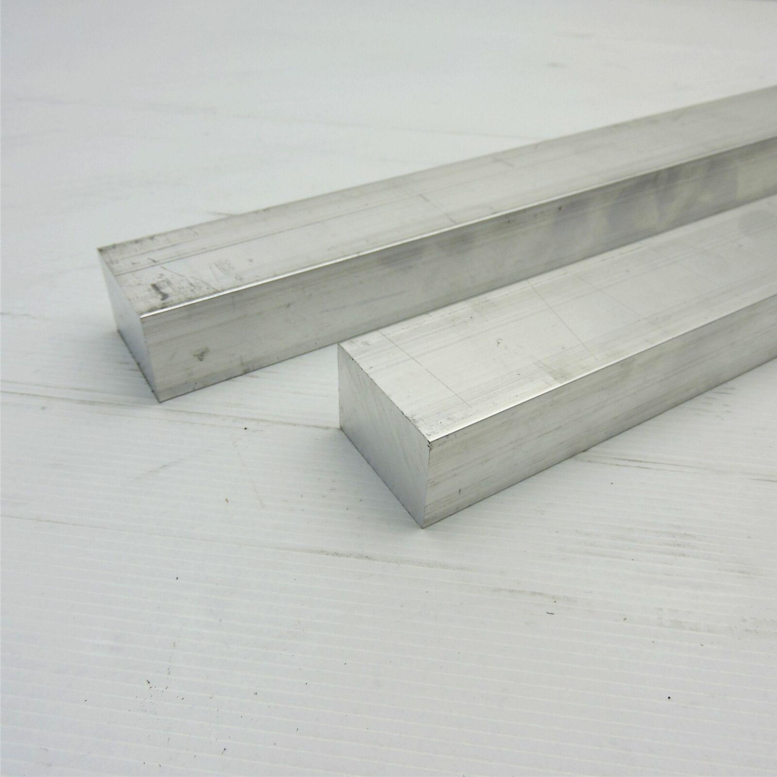 """6061 Plate 1/"""" 8/"""" Length T6511 Mill Stock 1/"""" x 2/"""" Aluminum Flat Bar"""