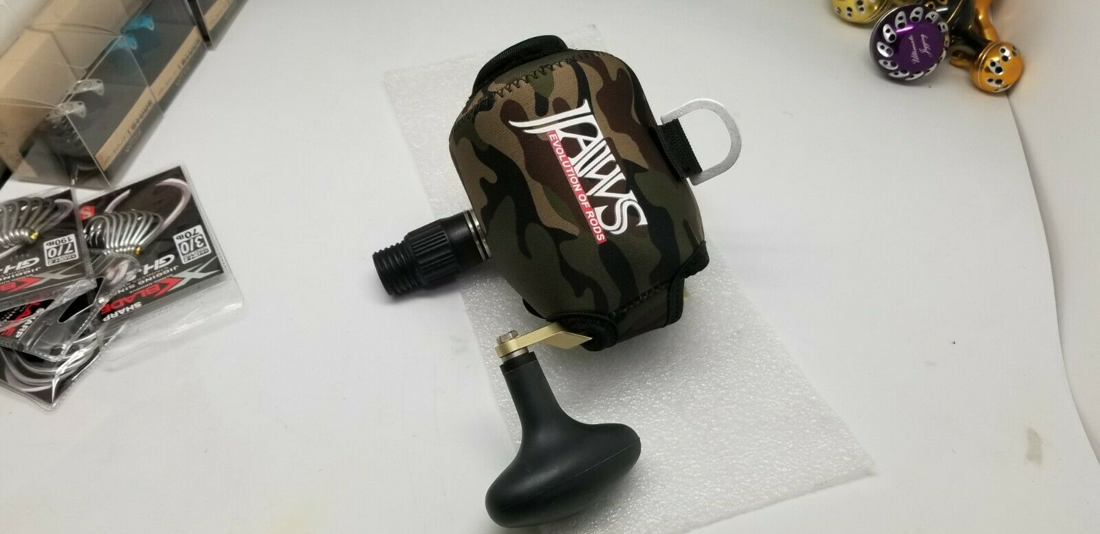 3 Color JAWS size M COVER FOR Accurate BX BV FX AVET Raptor MXL Shimano TN reel