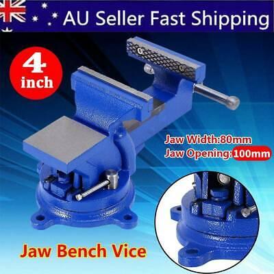 4 Inch 100 mm Screw Work Bench Workshop Clamp Engineer Jaw Base Swivel Vise Heavy Duty