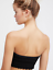NEW-Free-People-Intimately-Seamless-Eyelet-Ruffle-Bandeau-Black-XS-S-M-L-36-49 thumbnail 2