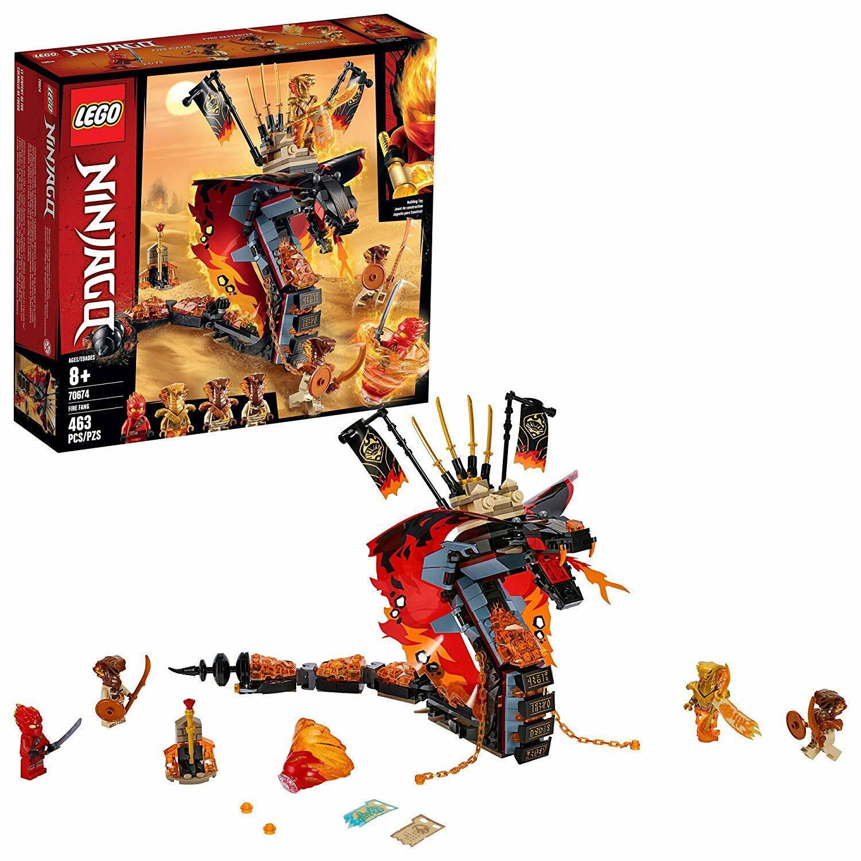 al prezzo più basso LEGO Ninjago Fire Fang 70674 giocattolo Snake Snake Snake costruzione Set with Stud Shooters 463pc  alta qualità e spedizione veloce