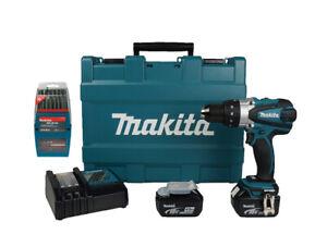 makita dhp458rme 18v cordless compact 2x 4ah batteries. Black Bedroom Furniture Sets. Home Design Ideas