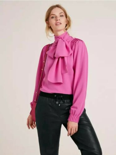 Size 16 Rick Cardona Women/'s Pink Blouse With Bow BNWT