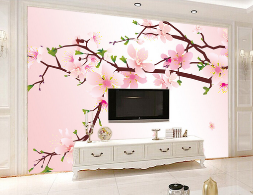 3D Peach Flower Tree 7 Wall Paper Murals Wall Print Wall Wallpaper Mural AU Kyra