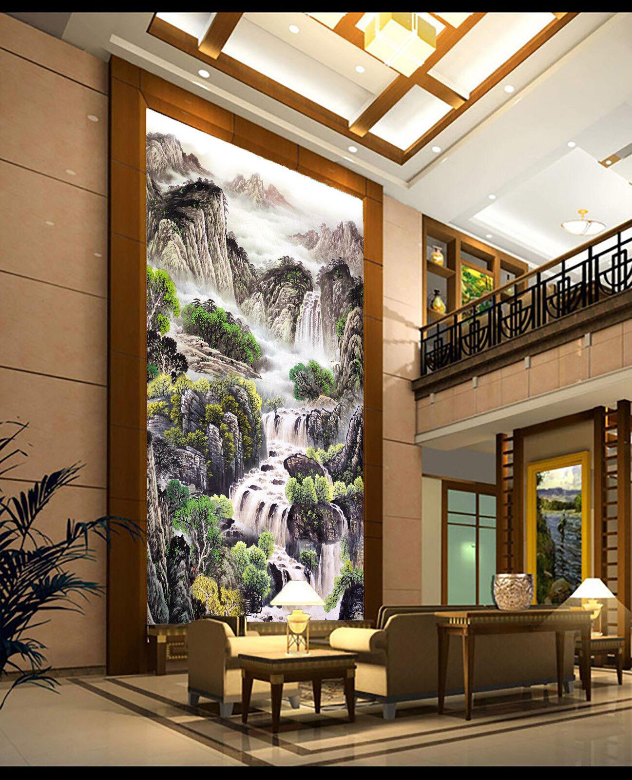 3D Landschaftsmalerei 40 Tapete Tapeten Mauer Foto Familie Tapete Wandgemälde DE