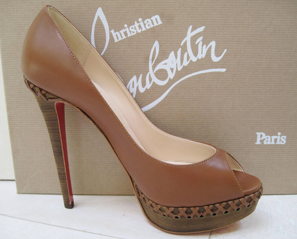 NIB Christian Louboutin Louboutin Louboutin LADY INDIANA 140 shoes 40 68711d