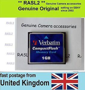 Verbatim 1gb Compact Flash Card Cf Card 1 Gb Cf Memory Card Uk Ebay