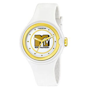 Calypso-women-watch-MTV-SPECIAL-EDITION-GOLD-amp-WHITE-baby-g-lacquered-Orologio