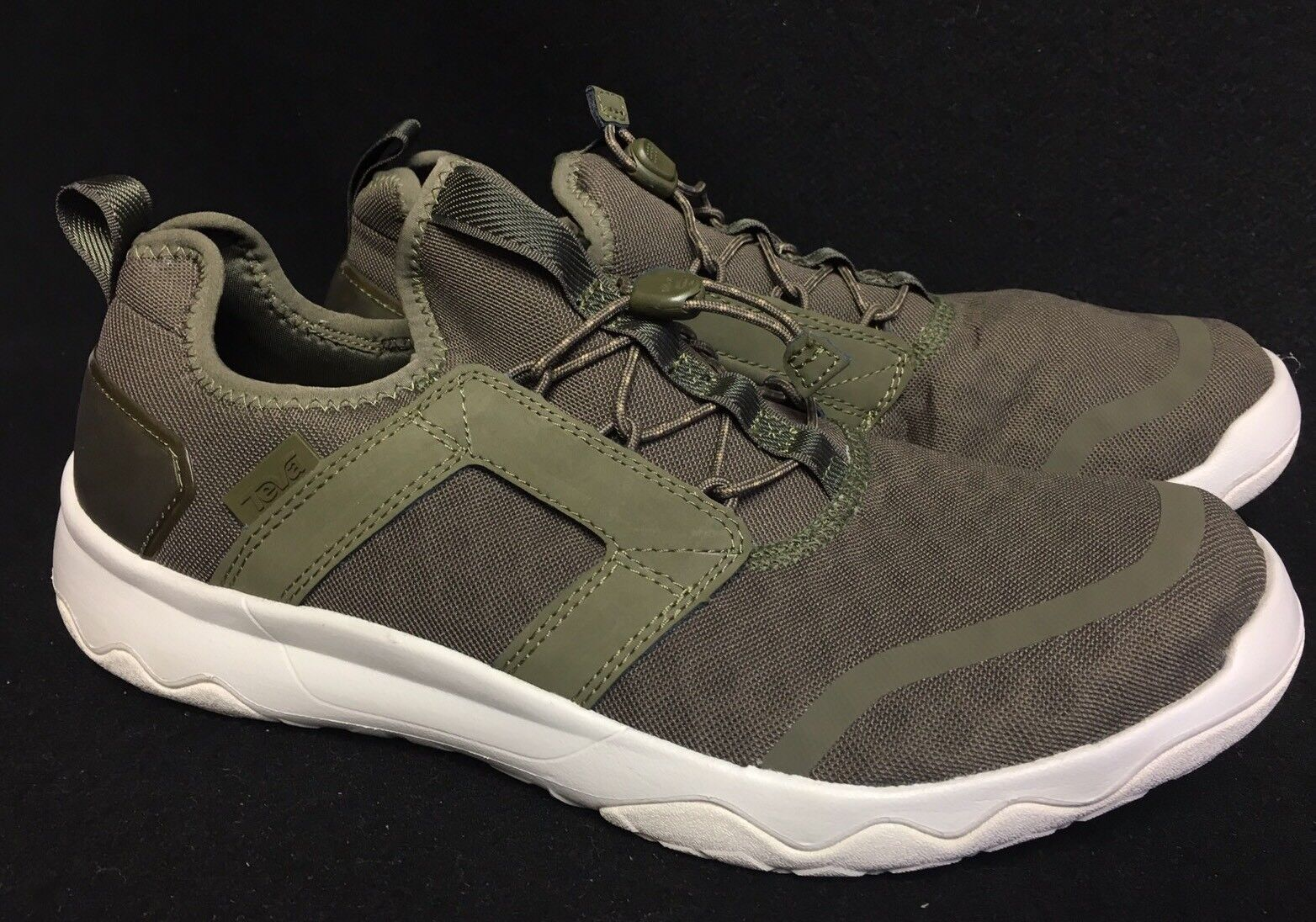 Teva Arrowood Swift Lace Sneaker 1017172 Mesh Leather Sizes Shoes Olive Green
