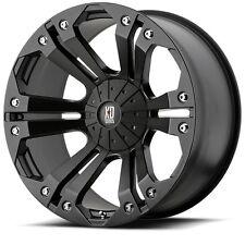 20 inch Black XD Series Monster Wheels Rims LIFTED Jeep Wrangler JK 5x5 Set of 4