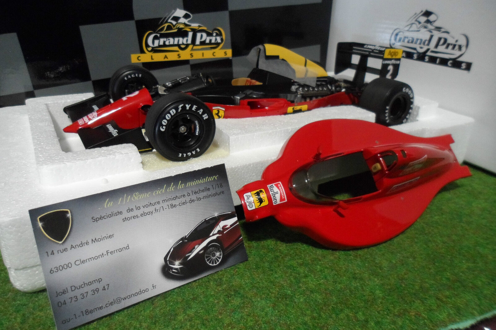 sorteos de estadio F1 FERRARI 641 2  2 Second Second Second GP Mexico 1990 Nigel Mansell 1 18 EXOTO 97100 Formule  Sin impuestos