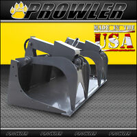 72 Inch Standard Duty Demo Grapple Bucket - 72 Skid Steer Attachment