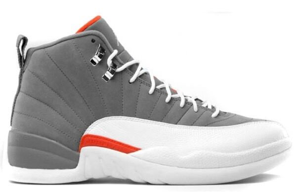 NEW RARE Nike Air Jordan 12 XII 130690-012 Cool Grey Team orange Sz 9 Kith DS