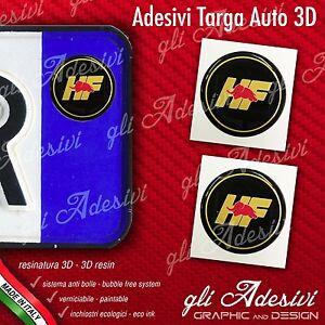 2 Adesivi Stickers Bollino 3d Resinato Targa Auto Moto Lancia Hf Petit Profit