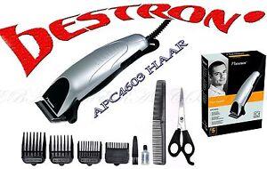Bestron-APC4603-Friseur-Haarschneidemaschine-Edelstahl-Klinge-3-6-9-12-mm-Silber