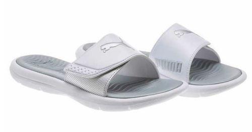 puma surfcat réglable réglable réglable femmes confort diapositive sandales  Blanc  / Argent  taille 7 nouveaux | Des Matériaux Supérieurs  ff14f3
