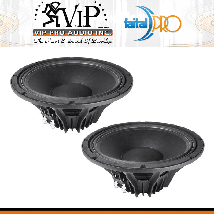 Faital-PRO 12PR300 12  Neodymium 600W Professional Woofer 8-Ohm Neo Speaker PAIR